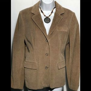 RAFAELLA Brown Corduroy Stretch Blazer Size 14P